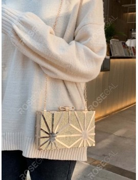 Shiny Chain Box Crossbody Bag