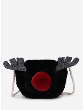 Christmas Deer Horn Crossbody Fuzzy Bag