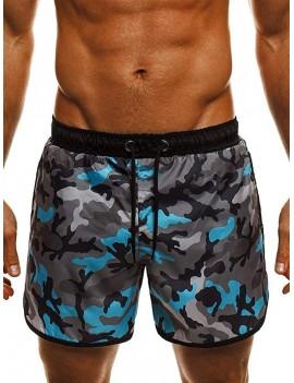 Camouflage Print Beach Shorts - M