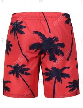 Coconut Tree Printed Board Shorts - 2xl