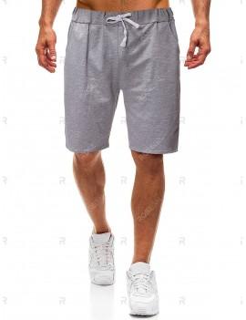 Casual Waist Drawstring Shorts - S