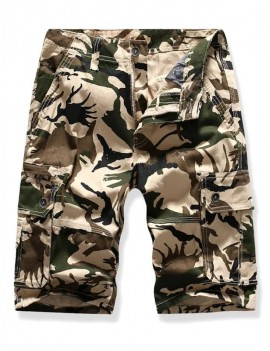 Casual Camouflage Printed Cargo Shorts - 34