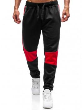 Color Blocking Spliced Elastic Sport Jogger Pants - 2xl