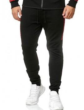 Casual Color Spliced Drawstring Jogger Pants - Xl
