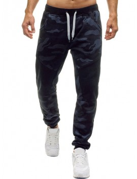 Camouflage Printed Leisure Jogger Pants - M